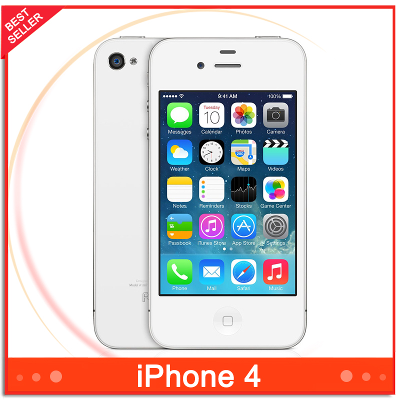 Cheapest Original Apple Iphone 4 Smartphone 3.5 inch IOS Apple A4 5MP 1GHz 512MB RAM 32GB ROM WCDMA Mobile phone(China (Mainland))
