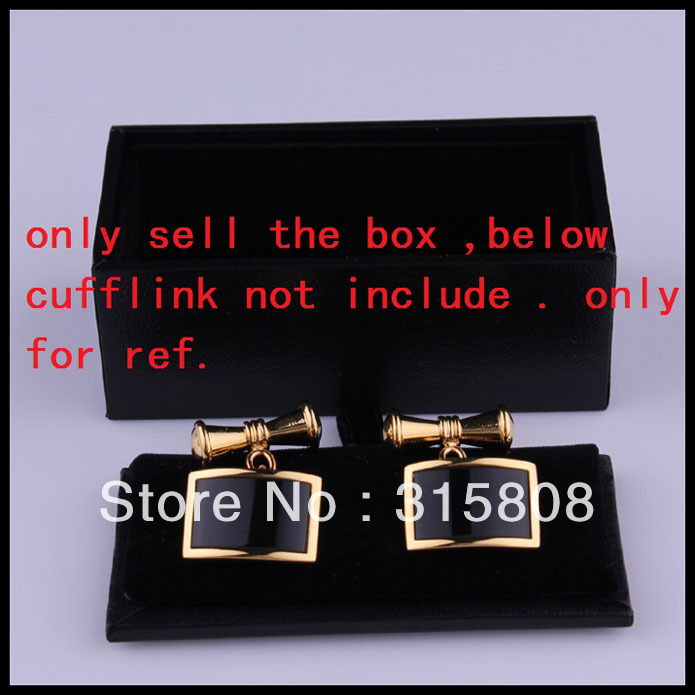 New Man Black Rectangle Faux Leather Small Cufflinks Box 12pcs/lot 8x4x3cm Gift Boxes for Men (SELL BOX ONLY)(China (Mainland))