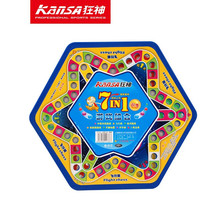 KanSA 7 IN1 checkers marmor flug Kinder puzzle schach indoor & outdoor spiel(China (Mainland))