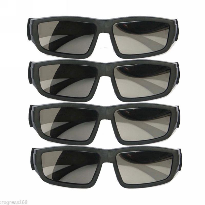 Maytir 4pairs Cinema IMAX Glasses Black High Quality Passive 3D Glasses Suitable For 3D Movies View 3D Pictures Magazine TV(China (Mainland))