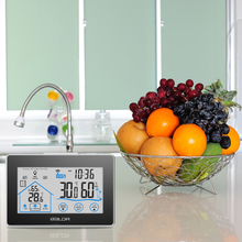 Alert LCD Thermostat Termometro Digital Thermometer Hygrometer Wireless Weather Station Clock Temperature Humidity Meter(China (Mainland))