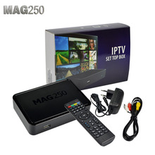 linux system iptv set top box Mag250 HD 1080p satellite receiver support Usb Wifi Mag250