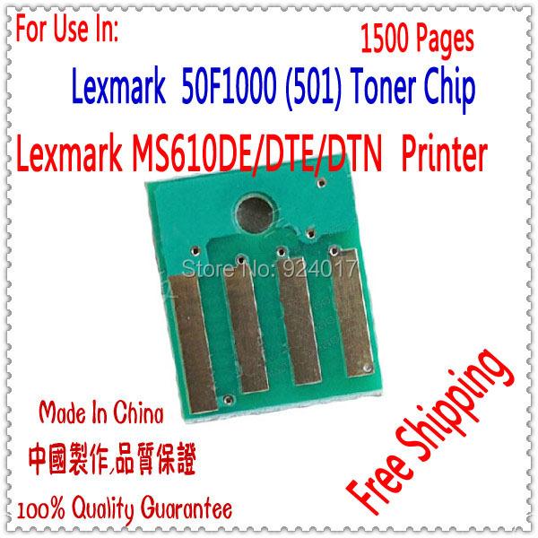 Compatible Chip Lexmark MS610 Reset Toner,Toner Chip For Lexmark MS610DE MS610DTE MS610DTN Printer,For Lexmark 50F1000 (501)1.5K<br><br>Aliexpress