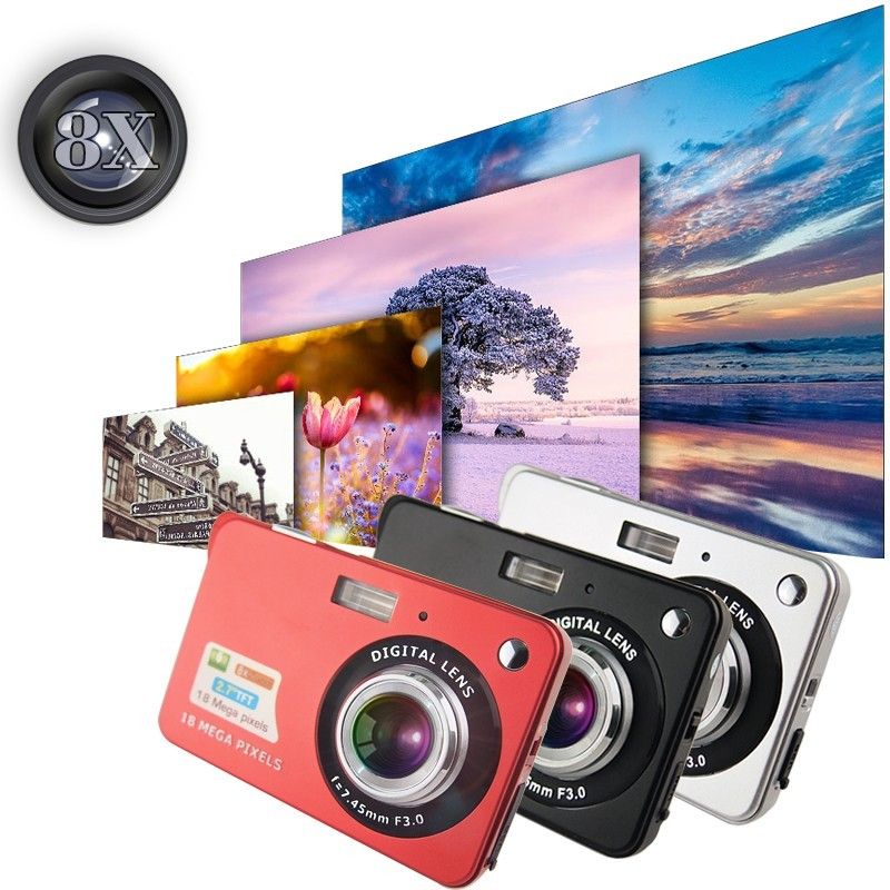 New small Photo camera lens thin maximum static output pixels 8 million digital camera exquisite appearance Camera child gift(China (Mainland))
