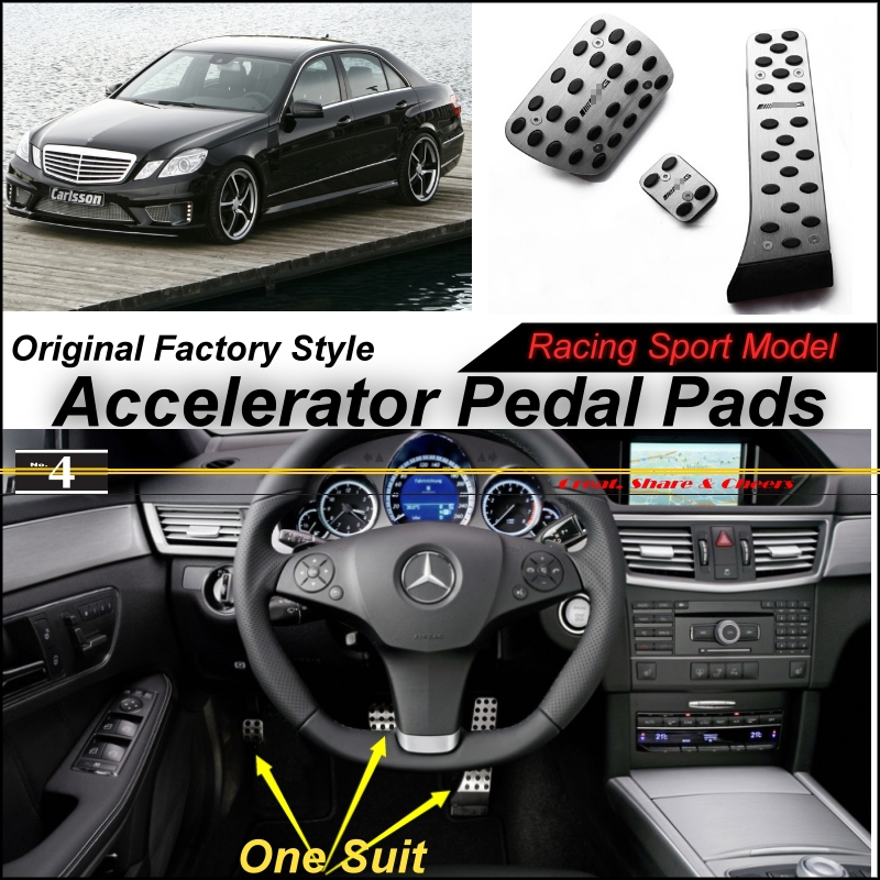 Car Accelerator Pedal Pad / Cover of Factory Sport Racing Design For Mercedes Benz E Class W212 2009~2015 AT Foot Pedal Throttle<br><br>Aliexpress