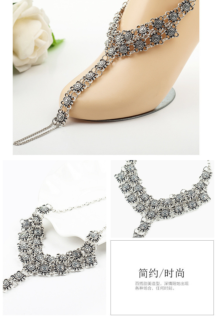 European and American jewelry retro exaggerated Coin Medallion Women's Mittens anklet bracelet wholesale