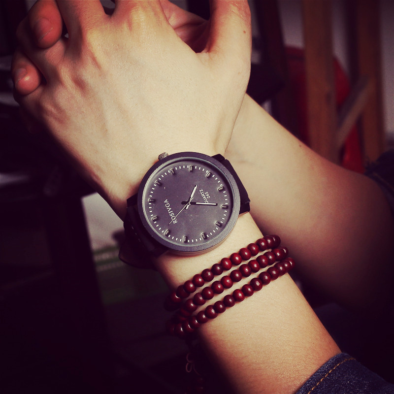 2015 Unisex Leather Strap Watches Men Luxury Brand Big Dial Men Watch For Lovers Black White Lady Sport Women Quartz Watch AB084<br><br>Aliexpress
