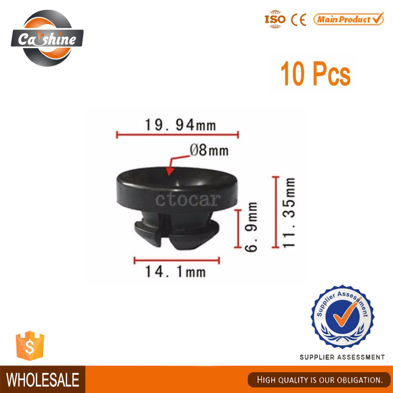 10x Nylon For Honda Civic Hood Prop Rod Grommet Clip 89 - on 91604-SD2-013(China (Mainland))