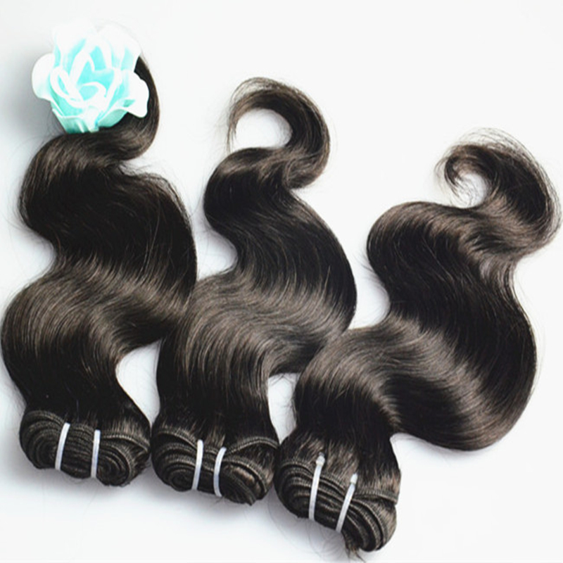 Angelbella Low Price! Brazilian Hair Body Wave 65G-70G/Pcs Natural Hair Products Brazilian Weave Body Wave Free Shipping(China (Mainland))