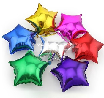 Hot sales!!! ,20pcs/lots wholesales 10 inch Aluminum Foil star Balloons , Birthday party /wedding decorate