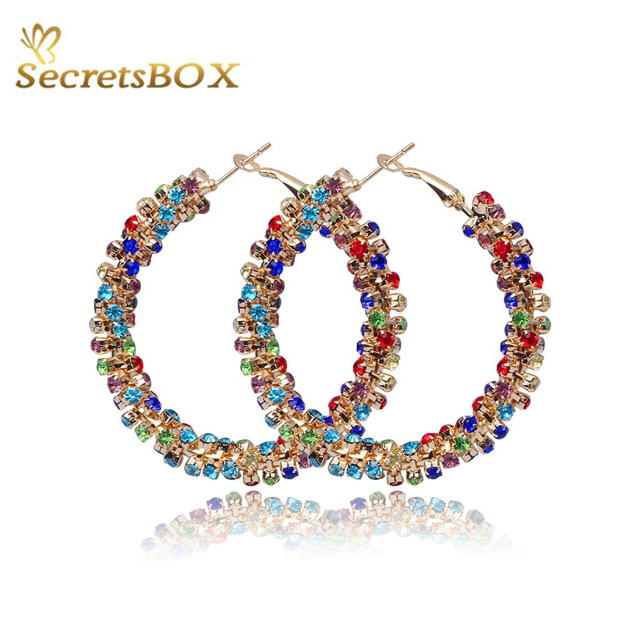 Crystal Hoop Earrings for Women 2015 Brincos Ouro Luxury Gold Plated Hoop Earring Pendiente Rhinestone Fashion Jewelry Bijuteria(China (Mainland))