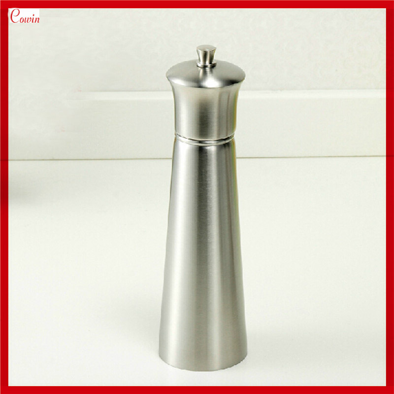New Manual Ceramic Core Stainless Steel Sesame Spice Salt & Pepper Mill Grinder Shaker(China (Mainland))