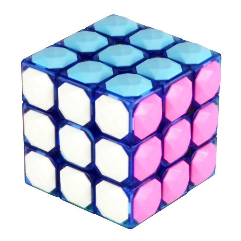 Starz 3x3x3 Puzzle Diamond Convex Surface Magic Cube Learning IQ Educational Toys Good Quality Gift(China (Mainland))