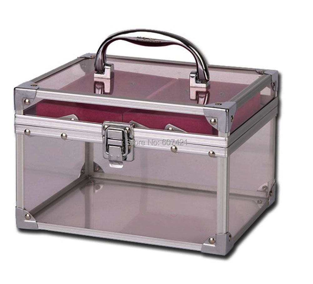 Fashionable Acrylic Aluminium Cosmetic Makeup Train Case