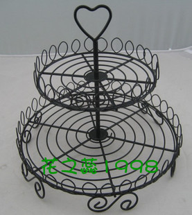 Free shipping steel art New Cupcake Stand display Tree Holder Muffin Serving Birthday and wedding Cake Party 2 Tier