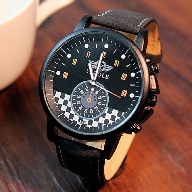 2015 YAZOLE люксовый бренд кварцевые часы свободного покроя мода кожаные изделия reloj masculino мужчины часы бесплатная доставка спорт наручные часы