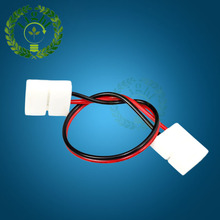 10pcs 5050 LED strip no solding two connector with wire for single color LED strip 2 pin 10mm Free welding connector