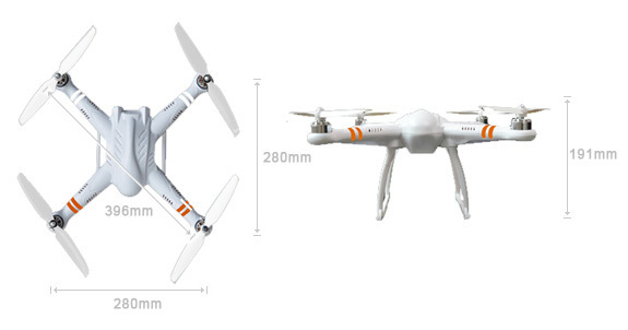 Original Free-X FreeX 7CH Transmitter GPS Drone RC Quadcopter With Brushless Gimbal RTF 2.4Ghz