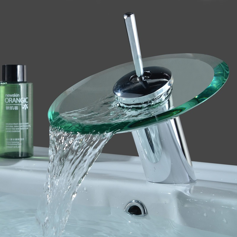 Waterfall Faucets Bathroom Faucet Mixer Taps Modern Bathroom Sink Faucets Gla