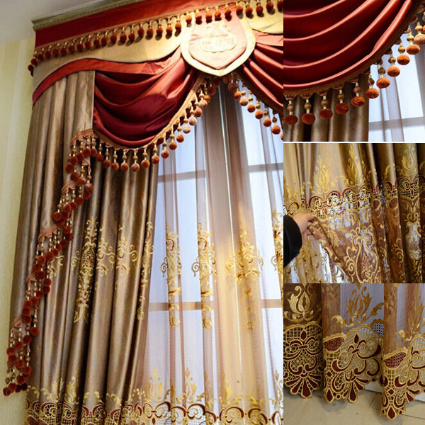 fashion new design luxury window elegant valance curtain in curtains