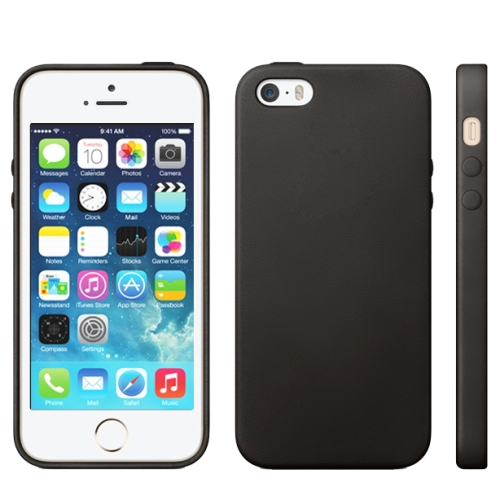 Solid Color 6 Style Official Design TPU with Leather Trim Case for iPhone 5 & 5S Simple Soft Durable Cell Phone Back Cover(China (Mainland))