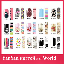 Nail Art Stickers,6sheets/lot Flowers Cartoon Designs Full Cover Self-adhesive Nail Foils Decal,Nail Patch,Fingernail Decoration