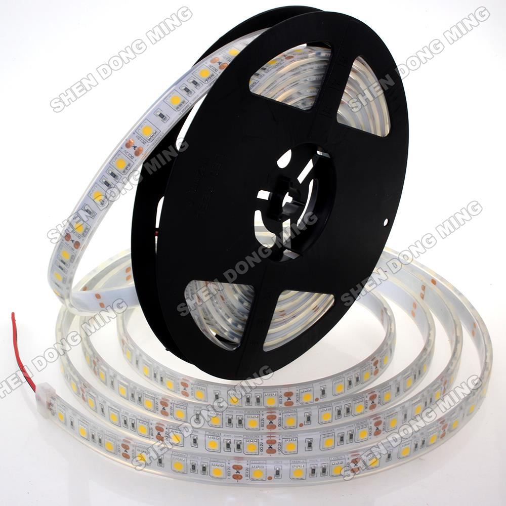 Здесь можно купить  100sets Flexible led ribbonLED Strip light set White Injection waterproof IP68 5050 SMD 300led+DC female connector+12V 6A power  Свет и освещение