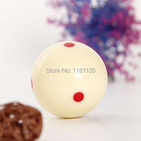 Overvalue Lowest Price High Quality New 6 Red Dots Billiard Practice Training Cue Pool Ball Table Diameter 50mm FREE SHIPPING(China (Mainland))