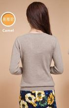 New Sweater Women Spring Knitted Thin Pullovers Long Sleeve V-Neck Slim Knitwear Summer Style Knitted Jumper(China (Mainland))