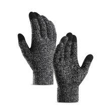 Осенние и зимние женские/мужские шерстяные кашемировые вязаные перчатки с сенсорным экраном высокого качества толстые теплые перчатки(China)