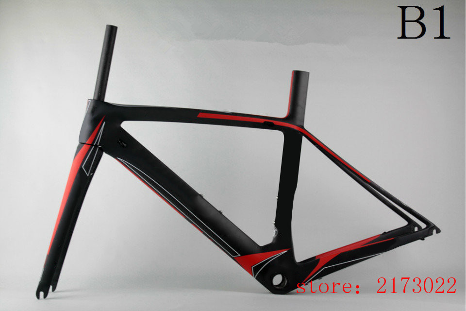 New color carbon frame road bike B1 black and red road bike frame BSA or BB30 2 years warranty sizeXS/S/M/L/XL(China (Mainland))