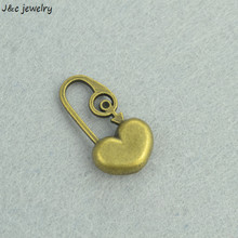 Buy Wholesale 8pcs Metal Charms Antique Bronze Hearts lock Charms Pendant Jewelry Making Bracelet Necklace DIY 27*15mm 3259C for $1.35 in AliExpress store