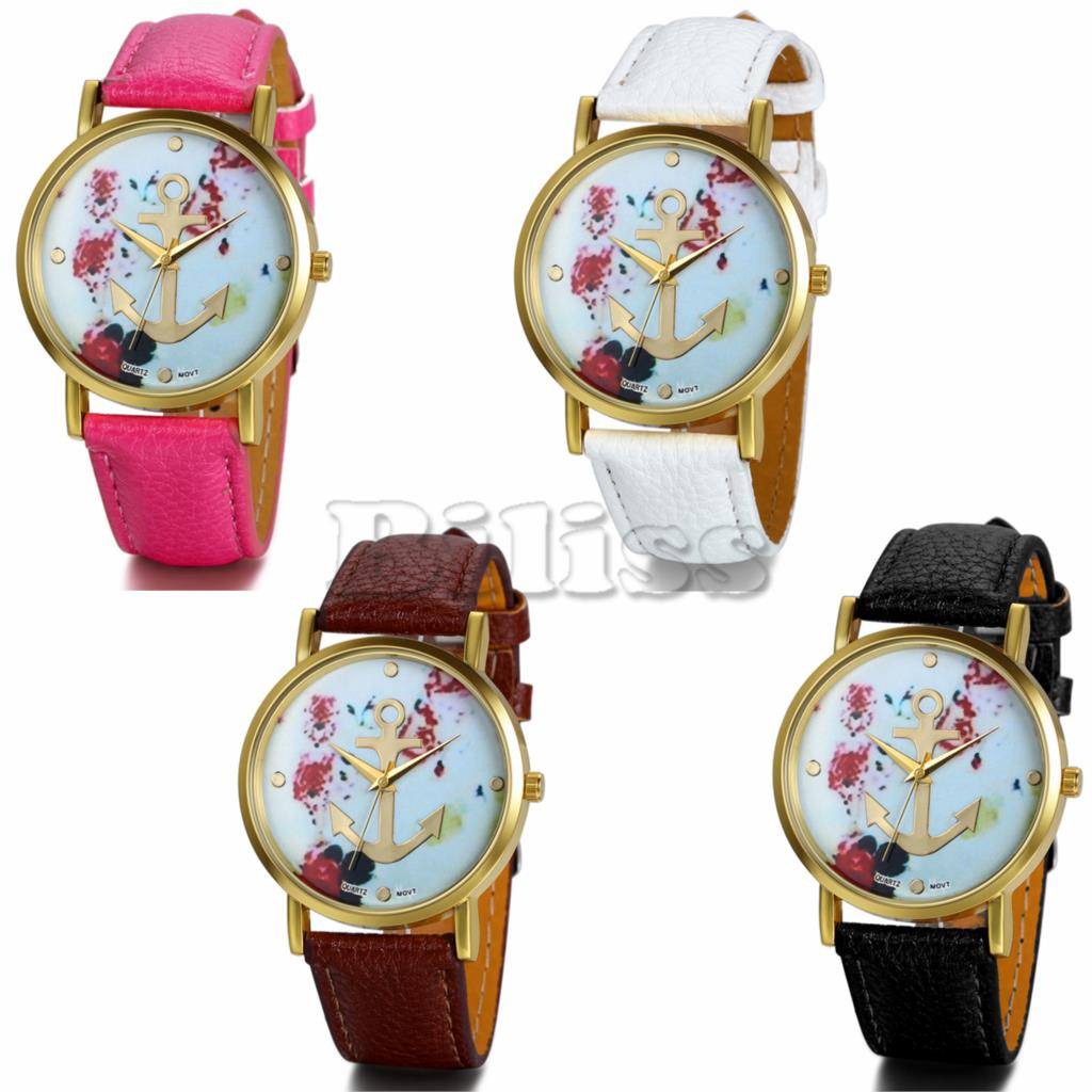 Hot Brand New Promotion Anchor Watches Unisex Fashion Leather Watch For Ladies Women Quartz Watches relogio feminino(China (Mainland))