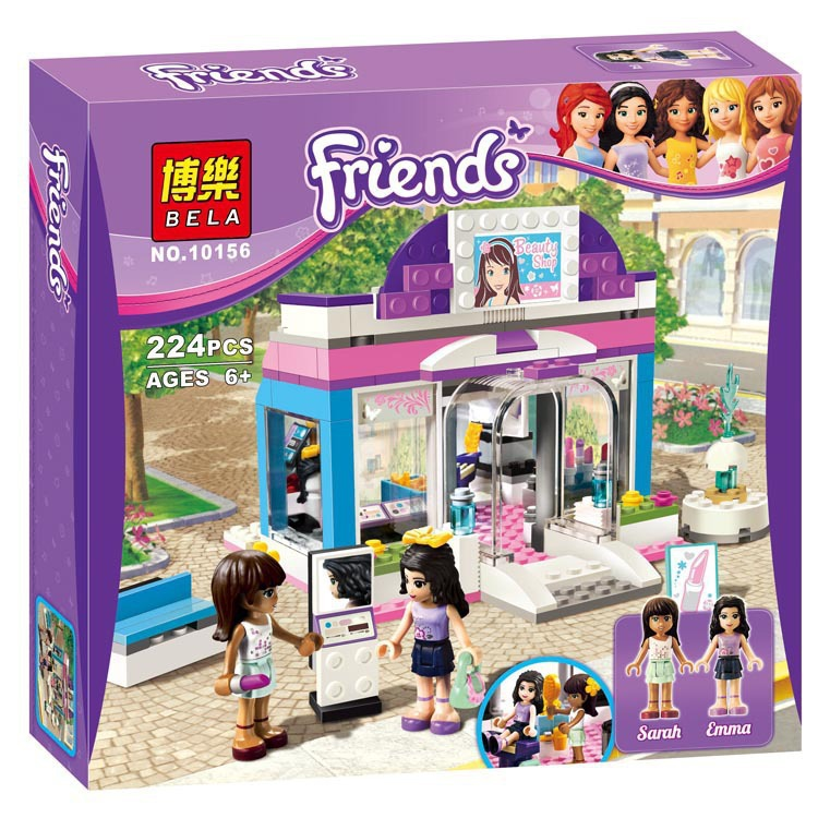 1pcs/Lot Girls Friends Emma/Mia Barber Shop Building Minifigures Blocks Children Toy Gifts Compatible With Lego<br><br>Aliexpress