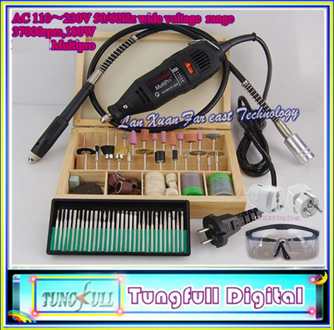 High quality Grinder Dremel Hardware Variable Speed Rotary Tool Electric Tools,Mini Drill, with 130pcs Accessories+Flexible tube