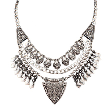 Bohemia Chic Design Fashion Necklaces For Women 2015 Vintage Carving Alloy Chokers Statement Necklaces & Pendants CE2882(China (Mainland))
