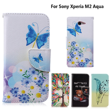 "Buy Case coque Sony Xperia M2 Aqua Case fundas Sony M2 Aqua Cover Case S50h D2302 D2303 D2305 D2306 4.8"" + Stand Card Holder for $3.19 in AliExpress store"
