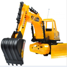 Free shipping 2015 New arrival car styling Heavy duty of remote control excavator bulldozer The toys RC truck  beach toys HT1690(China (Mainland))