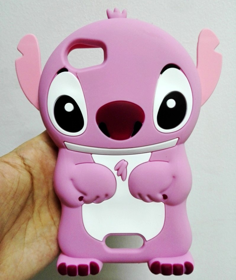 Fundas For Wiko Fever 4G 3D Cartoon Pink Stitch Silicon Cover Case For Wiko Fever 4G(China (Mainland))