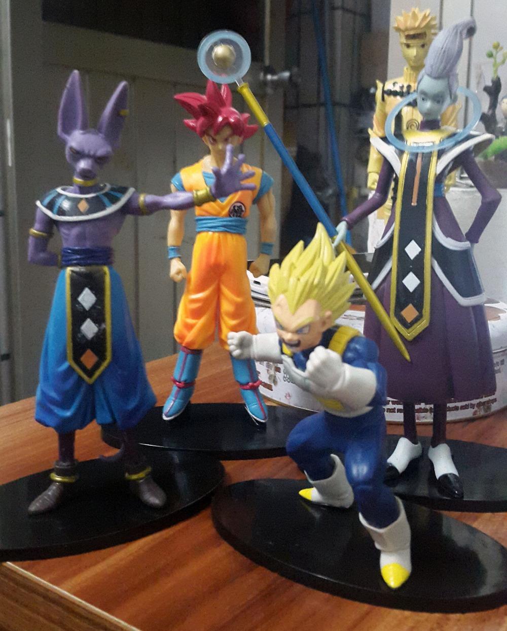 NEW Hot 4pcs/set 13-20cm Dragon Ball battle of gods Theater version Super Saiyan vegeta Son Goku Kakarotto Action Figure toys(China (Mainland))