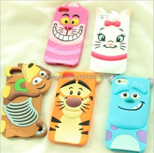 3D Cartoon Animal Monsters Sulley Tigger Marie/Alice Cat,slinky dog Silicon Phone Cases Cover For iPhone 4 4S 5 5S SE 6 6s Plus
