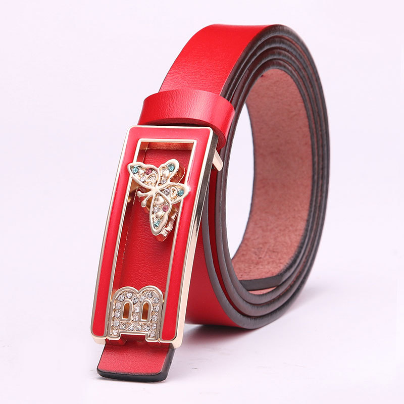 Women s casual leather belt belt cattle leather belt narrow all-match fashion ladies belts tide wholesale manufacturers(China (Mainland))