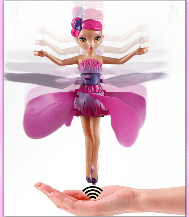 2015 New DIY Flying Fairy Dolls For Girls Learning Infrared Induction Control Flying Angel Doll Baby Toys Pokemon 4Z-WJ022(China (Mainland))