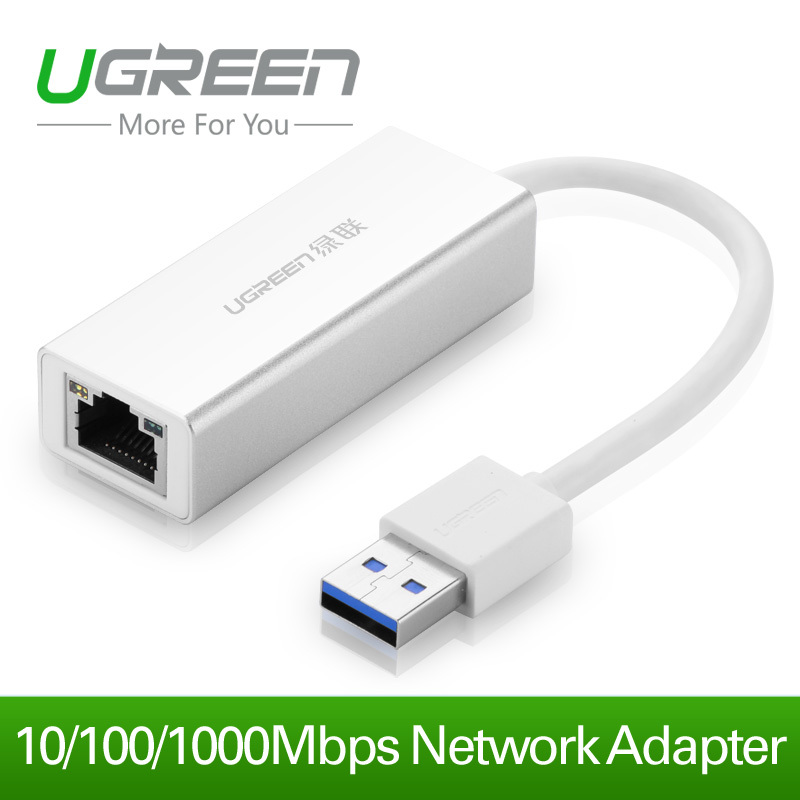Ugreen USB 3.0 to RJ45 gigabit Lan Network Ethernet Adapter Card For Mac OS Android Tablet pc Laptop Smart TV at 10/100/1000Mbps(China (Mainland))