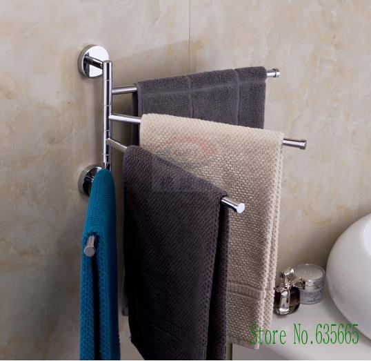 buy modern copper chrome moving swivel toalha towel bar rail rack hanging rod. Black Bedroom Furniture Sets. Home Design Ideas