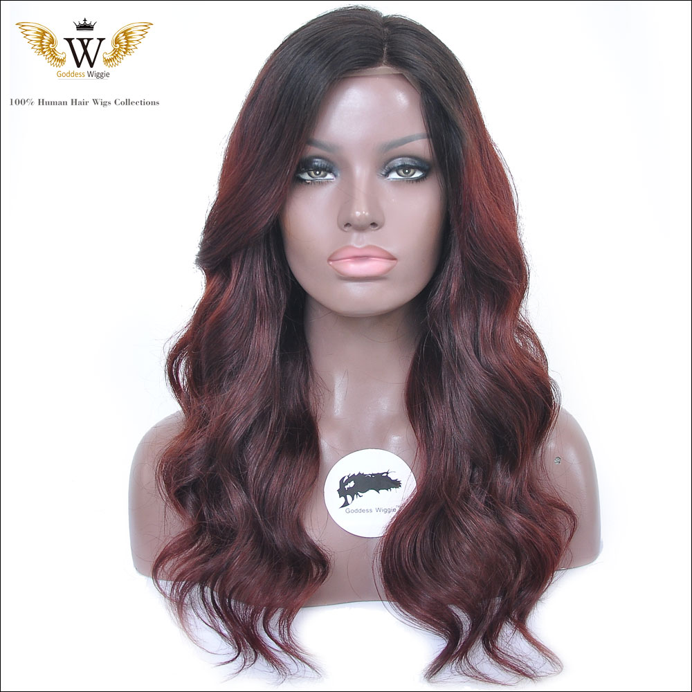Top Beauty 130 Density Ombre U Part Wig, Right Parting 2 Tone 1B 613 Brazilian Human Hair Wig Free Shipping<br><br>Aliexpress