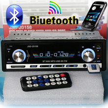 NEW 12V Car Stereo FM Radio MP3 Audio Player Support Bluetooth Phone with AUX/USB/SD Car Electronics Subwoofer In-Dash 1 DIN(China (Mainland))