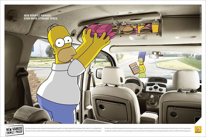 Simpsons fast food advertising Poster High quality picture Print Home Decoration Cloth Silk wall Art(China (Mainland))