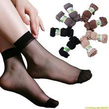 One pair price Lady's girls Transparent Thin Crystal Socks/women socks 4 basic colors nude coffee grey black socks
