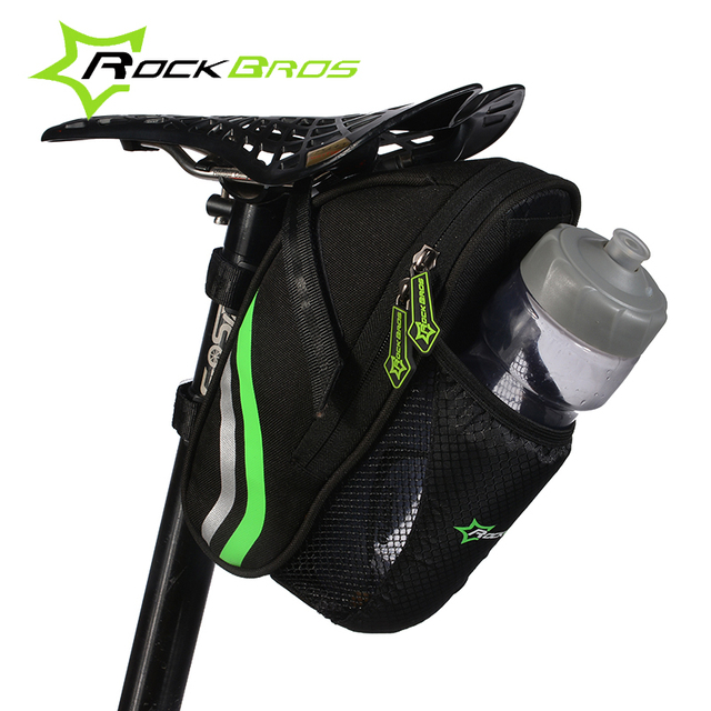 Nylon Bicycle Rear Bag with Water bottle pouch